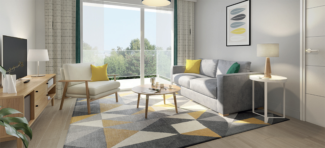 louer un appartement t3 en r sidence service senior. Black Bedroom Furniture Sets. Home Design Ideas